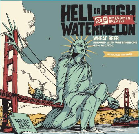 21st Amendment Hell or High Watermelon - 12oz/6pk