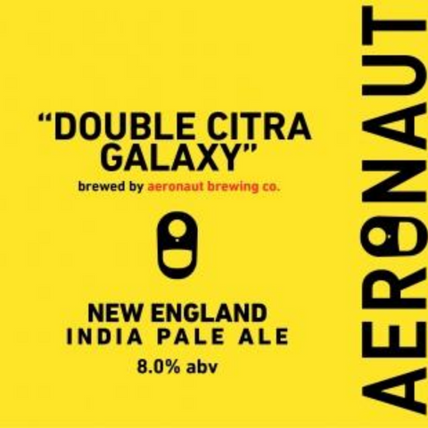 Aeronaut Double Citra Galaxy DIPA - 16oz/4pk