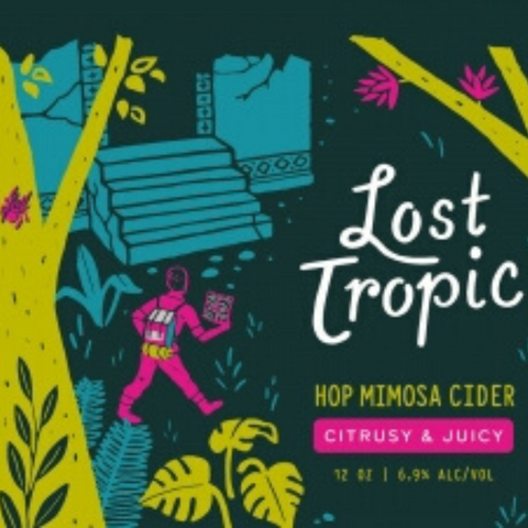 Graft Lost Tropic Hop Mimosa Cider - 12oz/4pk