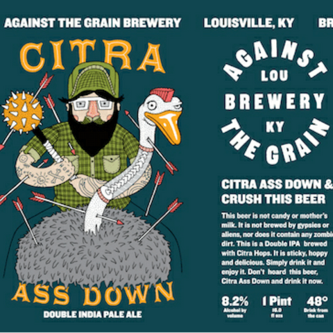 Against the Grain Citra Ass Down IPA