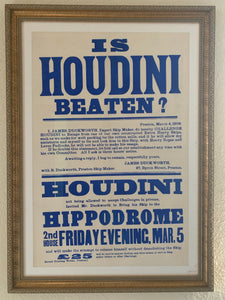 Original Houdini Broadside Poster
