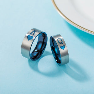 King and Queen Stainless Steel Rings