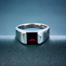 Load image into Gallery viewer, Mesmer's Silver Garnet Ring