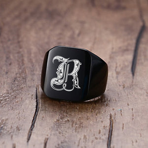 Customized Magician's Initial Ring