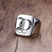 Load image into Gallery viewer, Silver Customized Magician's Initial Ring