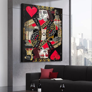 Modern Playing Card Canvas Print