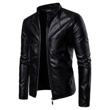 Load image into Gallery viewer, Black Biker Moto Jacket