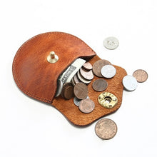 Load image into Gallery viewer, Genuine Cowhide Leather Coin Wallet