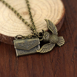 Owl & Envelope Necklace