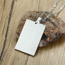 Load image into Gallery viewer, Silver Ace Necklace