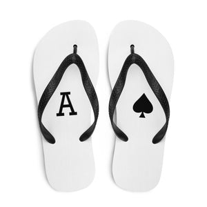 Ace of Spades Flip-Flops