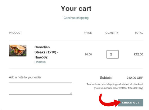 Review the cart