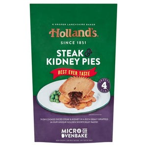 4 Steak & Kidney Pies Hollands 1x4x182g