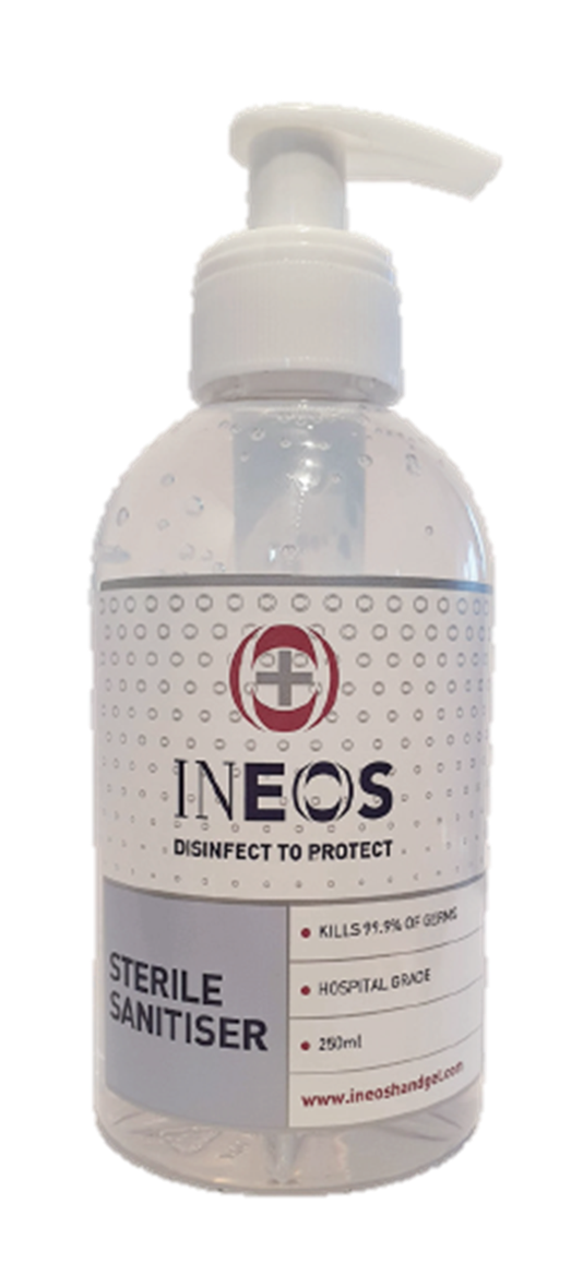 Ineos Sterile Hand Sanitiser (80% Alcohol) (250ml)