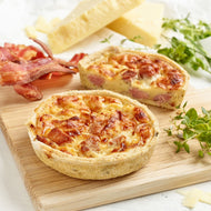 Bacon & Cheddar Quiche (12x175g)