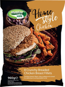 Meadow Vale Home Style Breaded Chicken Fillets (8x120g)