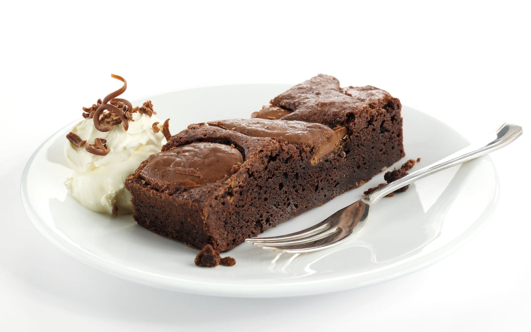 Choc Fudge Brownie Slice (18ptn)