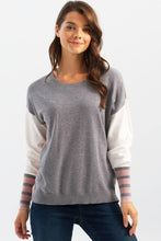 Load image into Gallery viewer, Striped Sleeve Sweater