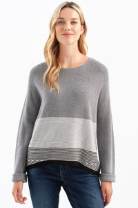 Sweater with Stripe Detail