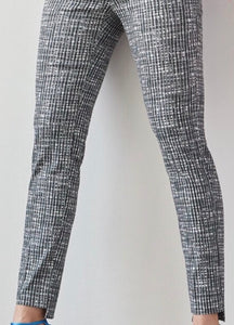 Checked High Low Ankle Pant