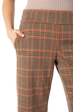 Load image into Gallery viewer, Pull On Plaid Wide Leg Pant