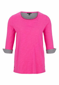Cotton 3/4 Sleeve Top with Slits