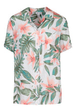 Load image into Gallery viewer, Short Sleeve Tropical Print Blouse