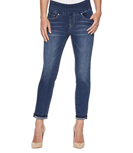 5 Pocket Ankle Jean with Extended Cuff