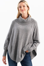 Load image into Gallery viewer, Round Hem Turtleneck Sweater
