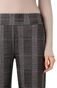 Plaid Pull On Culotte