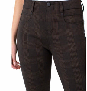 Skinny Iridescent Plaid Pant