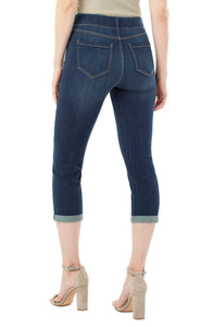 Cropped Pull-On Jean with Cuff