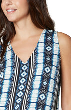 Load image into Gallery viewer, Sleeveless V-Neck Print Top