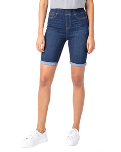 Bermuda Pull On Denim Shorts