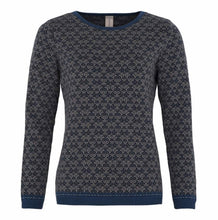 Load image into Gallery viewer, Long Sleeve Patterned Crew Neck Sweater
