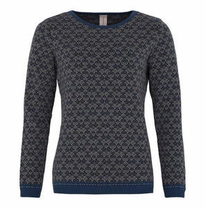 Long Sleeve Patterned Crew Neck Sweater