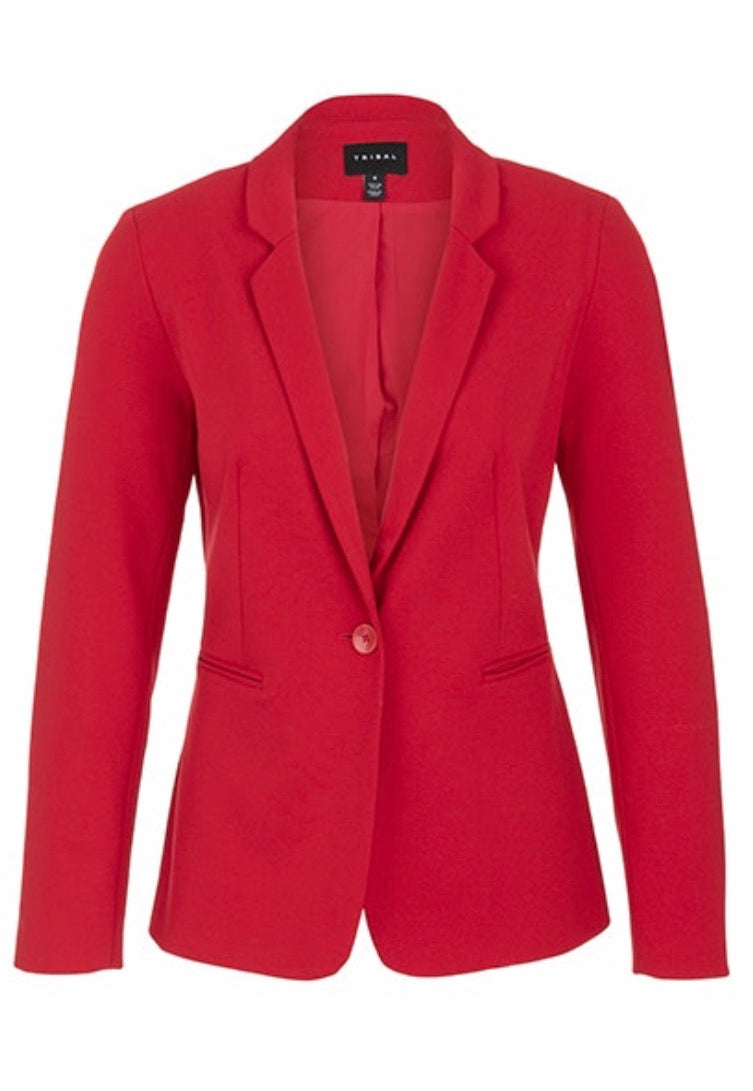 Long Sleeve One Button Blazer