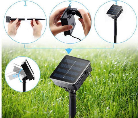 solar outdoor light strips garden
