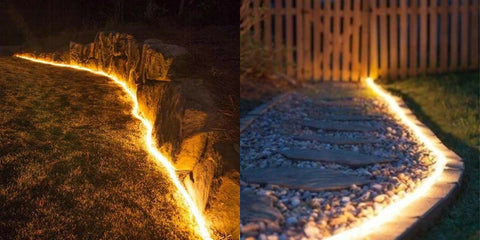 solar pathway rope lights