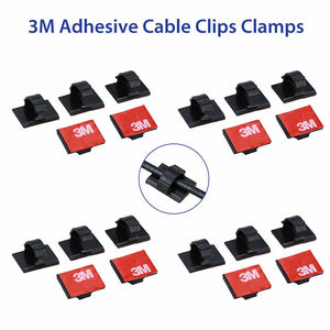 20Pcs 3M Self-adhesive Cable Clamp Clips