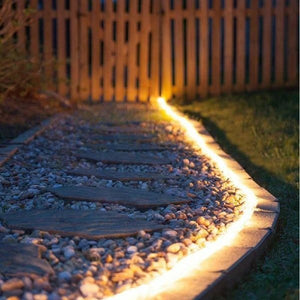 solar garden pathway light strips