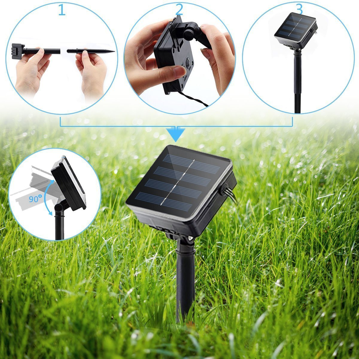 solar powered garden lighting strips