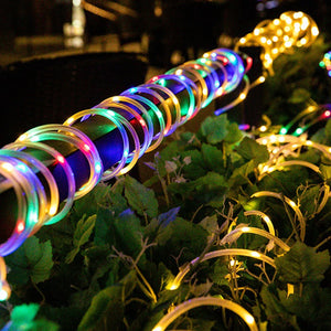 multi color solar outdoor light strips