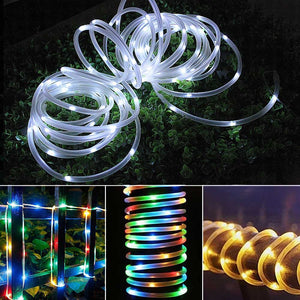 solar garden pathway rope lights