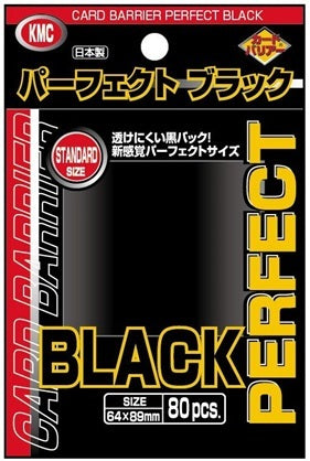 KMC Perfect Black Standard Size (64x89mm) - 80pcs