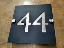 Load image into Gallery viewer, Duo Aluminium house sign - Square - Large