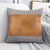 HARBOR FAUX LEATHER & COTTON THROW PILLOW COVER