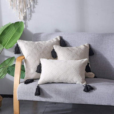 BOHO LUMBAR THROW PILLOW COVER