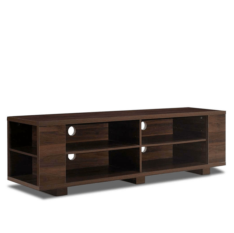 WALNUT OPEN STORAGE TV STAND