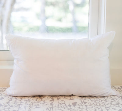 FAUX DOWN LUMBAR PILLOW INSERT (12 x 18)